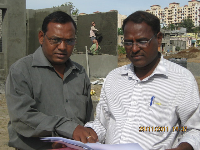 Ravi Gope and Balasaheb Lagad, Chief Engineer, Urbangram Kirkatwadi, A 2 BHK Flat for Rs. 25 Lakhs on Sinhagad Road, Pune 411 024