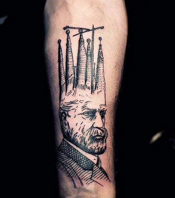 Ien Levin tattoo - Gaudi