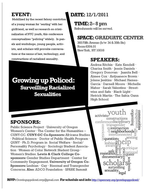 Growing Up Policed: Surveilling Racialized Sexualities Mini-Conference