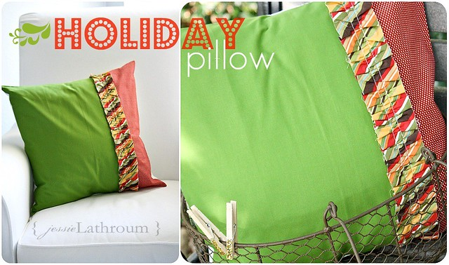 Holiday Ruffle Pillow