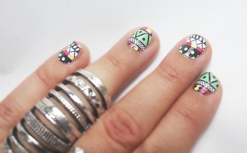 aztec nails 2