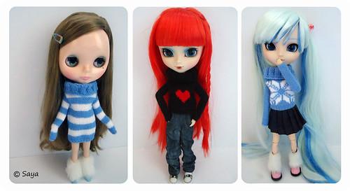 Mis nenas vestidas por Lunita by tatadelacasa