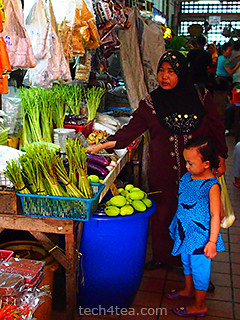 A vegetables stall in Central market