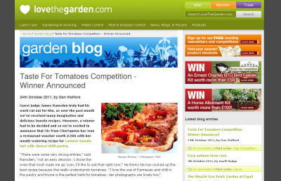 Love the Garden tomato winner announced
