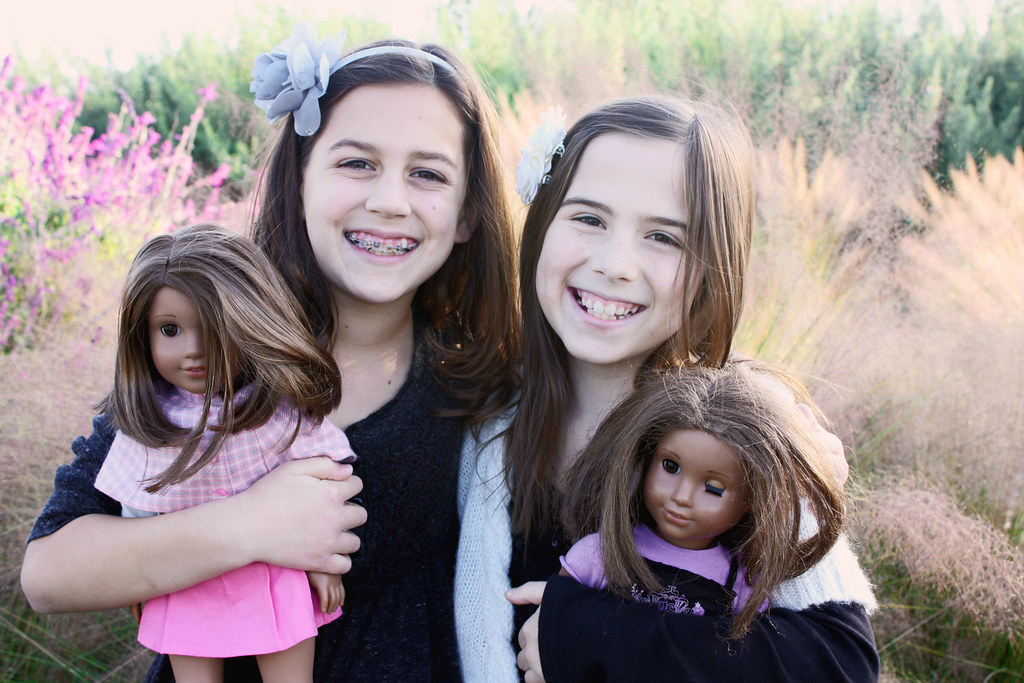 alysse and chelsea with dolls 2