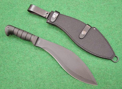 "KA-BAR Kukri Machete 11-1/2"" Blade, Leather / Cordura Sheath"