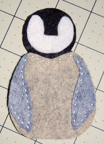 """Little Chick"" Felt Penguin Ornament"