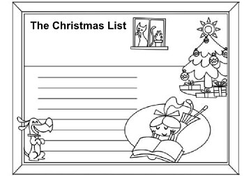 Christmas List Coloring Page Christmas Activity Coloring Flickr