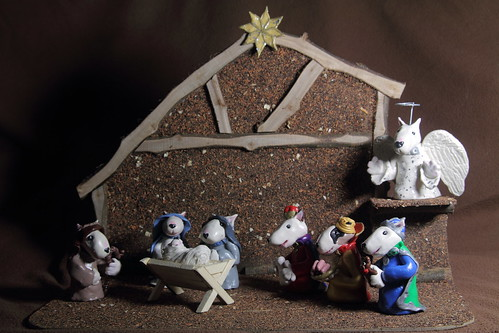 The Bull Terrier Nativity
