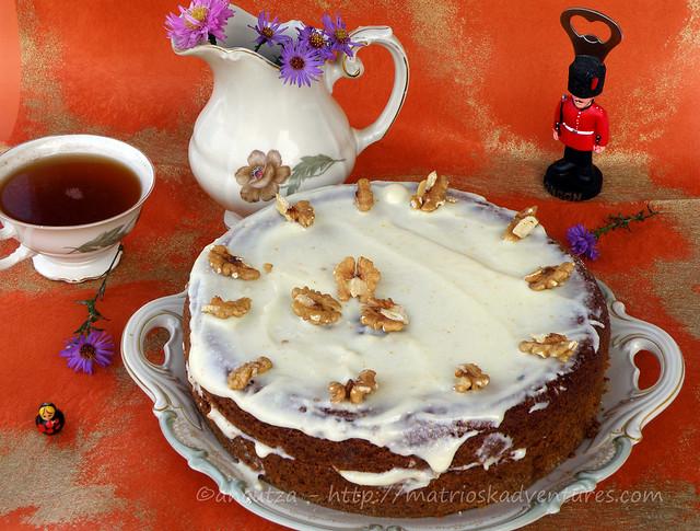 immagine carrot cake torta inglese carote e noci