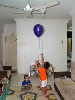 Boys with balloons
