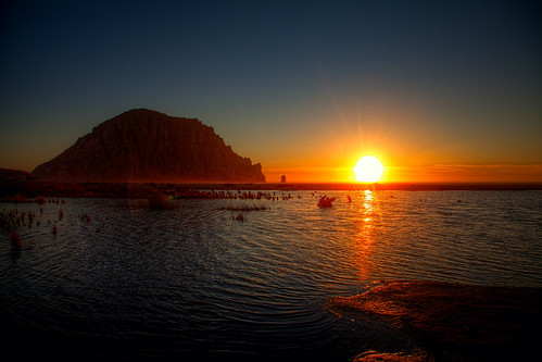 Sundown at Morro Rock