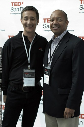 TEDx San Diego founder Jack Abbott with Dwayne Gathers    MG 3775