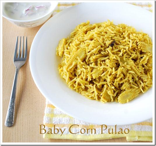 Baby corn pulao