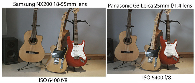 NX200 / G3 comparison - ISO 6400