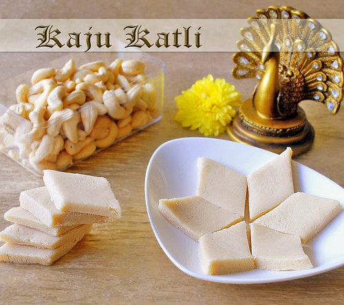 Kaju katli recipe, How to make kaju katli - Raks Kitchen