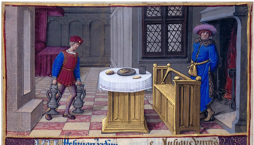 011-Febrero-fol 1v-detalle-Hours of Henry VIII-1500-Jean Poyer--© The Morgan Library & Museum