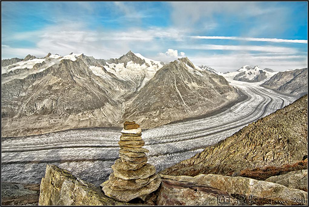 Suiza - Las montañas - Glaciar Alestch desde el Eggishorn