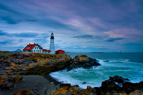 ocean lighthouse colors portland long exposure head maine atlantic capeelizabeth headlighthouse