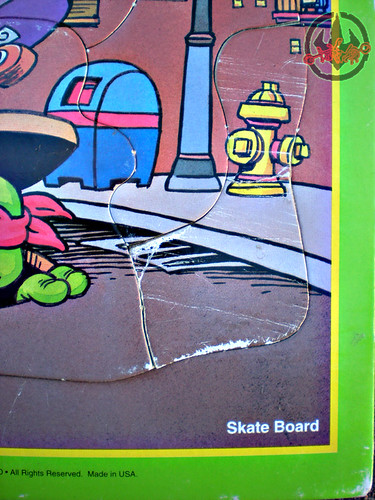 "ROSE ART :: 'TEENAGE MUTANT NINJA TURTLES' - ""Skate Board"" FRAME-TRAY Puzzle vii (( 1993 ))"
