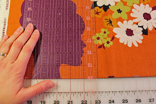 fussy cut, leave room for seam allowance