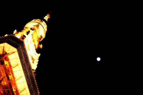 Tokyo Tower and the Moon by sagtran