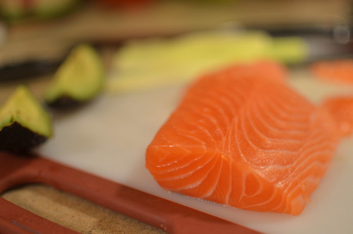 Salmon Sashimi for Sushi