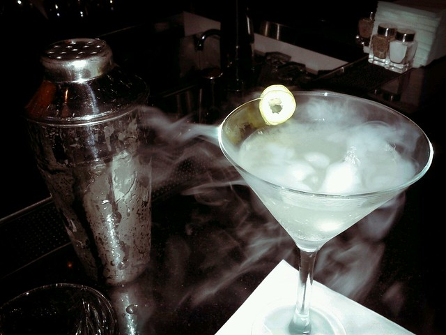 cold gin martini straight up