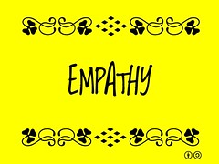 Buzzword Bingo: Empathy = Being sensitive to and vicariously experiencing the feelings, thoughts and experience of another #buzzwordbingo
