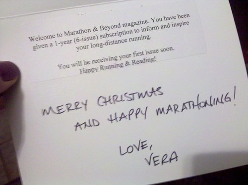 Christmas gift from my biggest fan, Ultra Vera