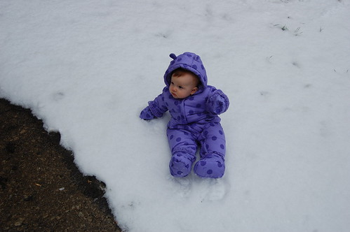 Eleanor's first snow