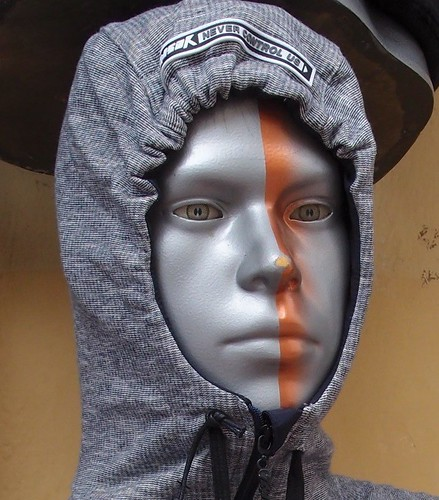 Silver alien mannequin