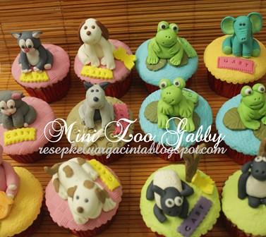 Mini zoo cupcake Gaby