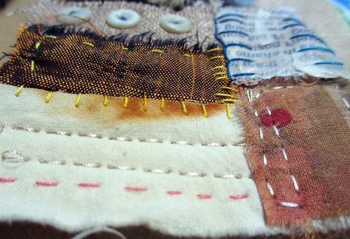 little squares/text and textiles