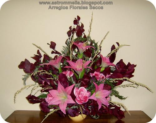 Astrommelia arreglo de arrimo 1 con flores artificiales - Arreglos de flores artificiales ...