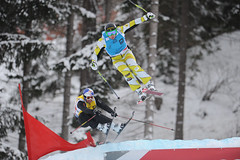 Dave Duncan in action in the second World Cup race of the season in Innichen/San Candido, Italy.