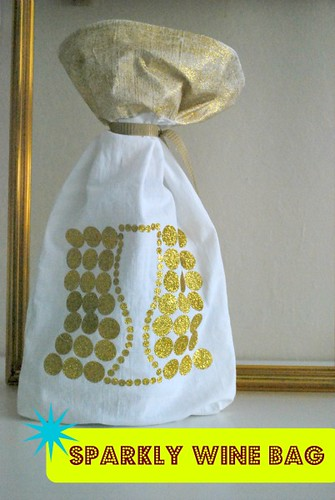 Sparkly Wine Gift Bag