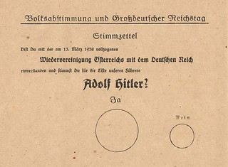 Papeleta del plebiscito para la anexión a Alemania (Austria, 1938)