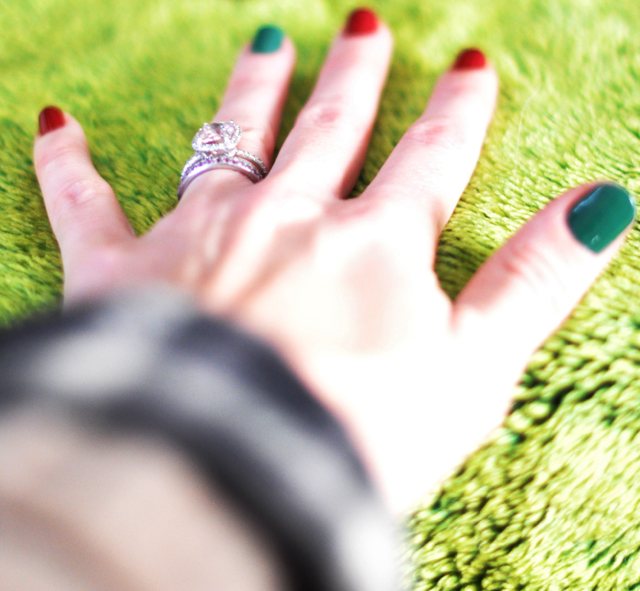 christmas nails - red and green  manicure