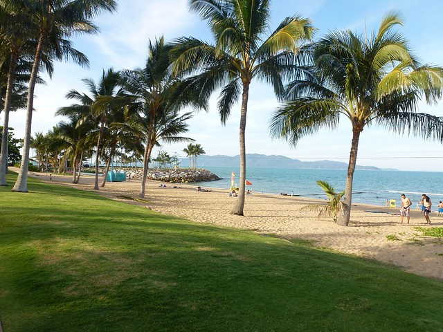 The beach at Townsville