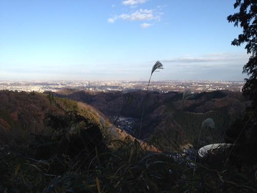 高尾山のちゅうふくにある展望台。がっつり歩いています。@2011/12/23 高尾山