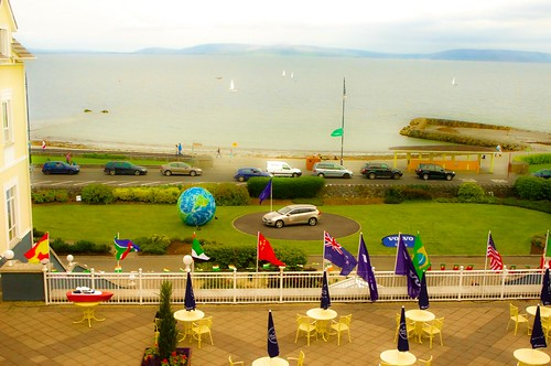 view from my room at Galway Bay Hotel