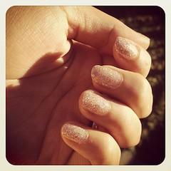 Glittery Nails...