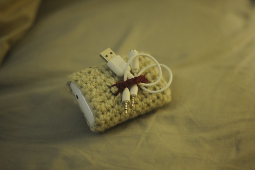Crochet charger cosy