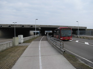 Bike tunnel under runway at Schiphol