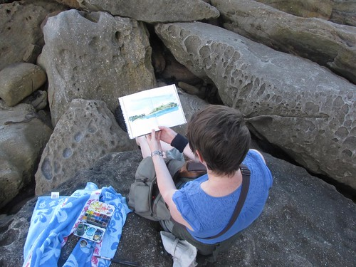 Sketching on the rocks