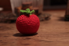 Crocheted tomato