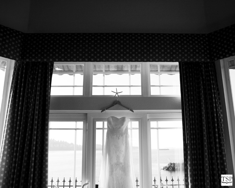 Bride's Dress in Window