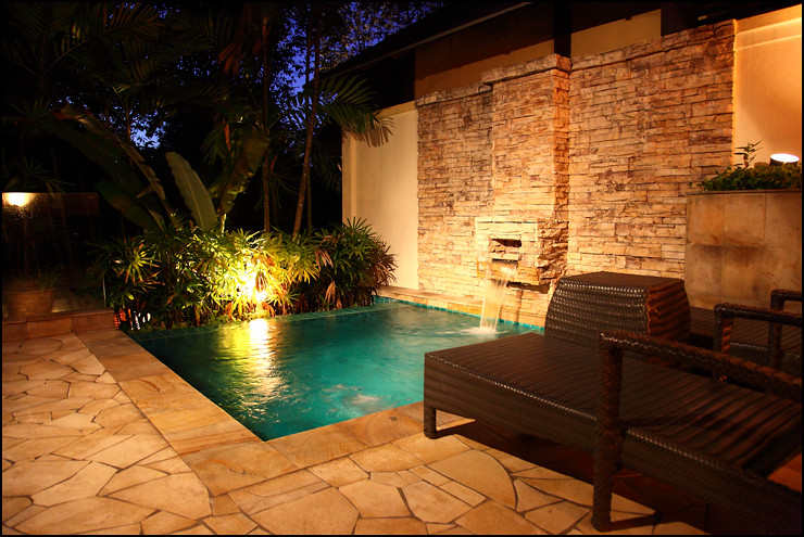 The Villas private-pool-night