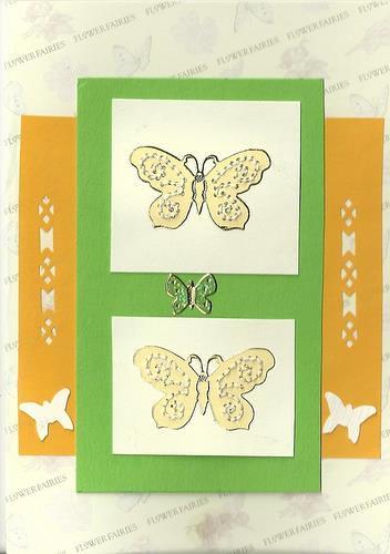 borduurkaart met vlinders